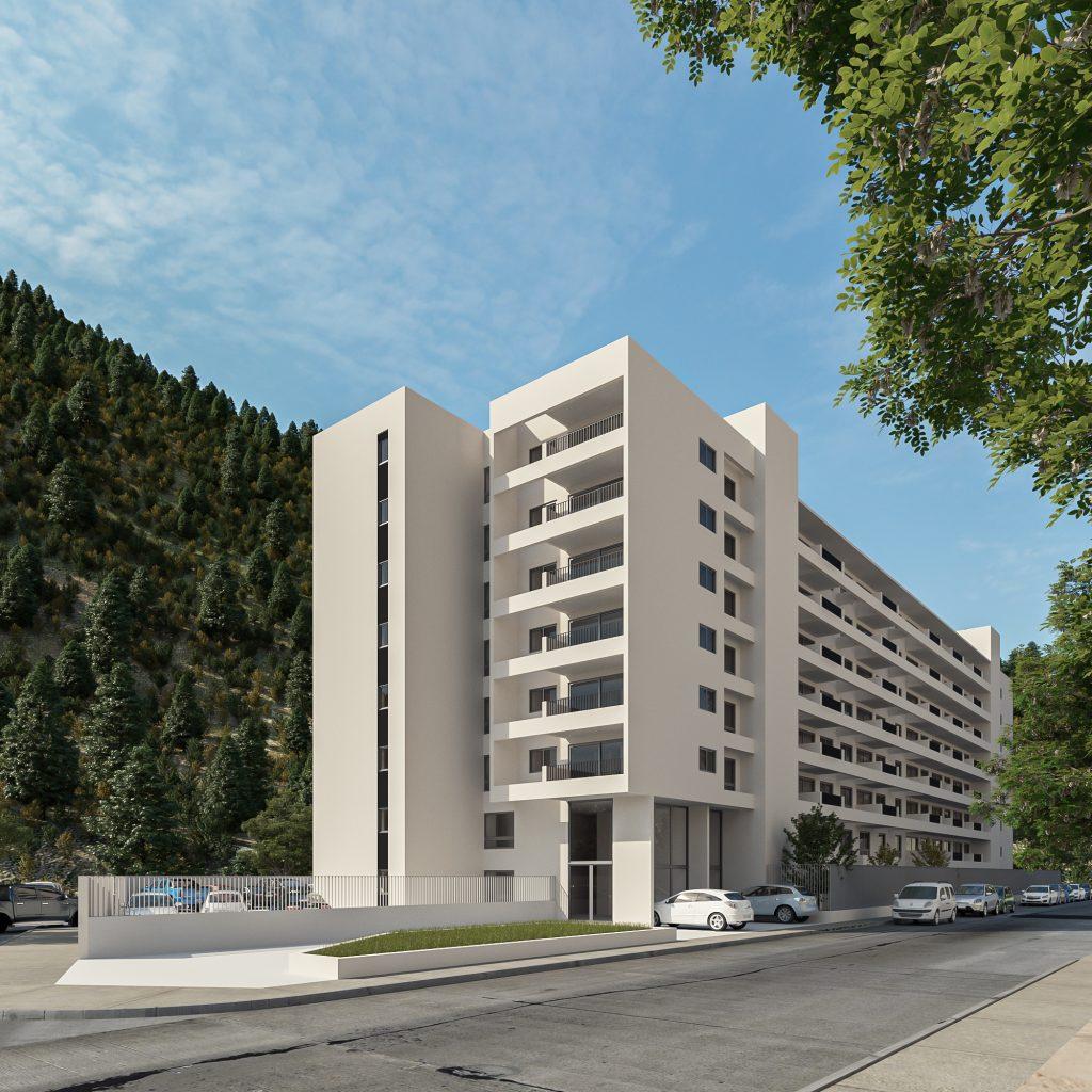 Crear - Cumbre, fachada vista peatonal